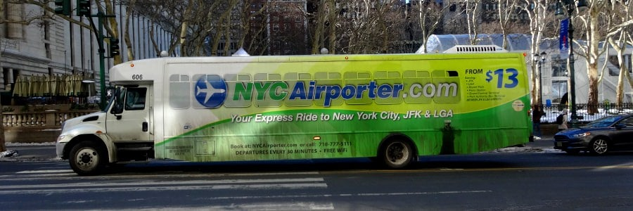 New York Flughafentransfer JFK Airport Manhattan mit dem NYC Airporter