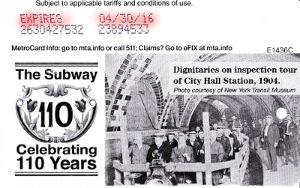 Guthaben auf einer Pay-Per-Ride MetroCard der MTA New York Subway - www.reisenewyork.com
